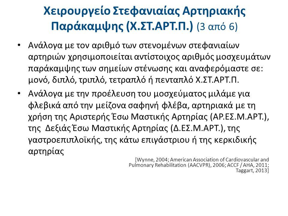 Χειρουργείο Στεφανιαίας Αρτηριακής Παράκαμψης (Χ.ΣΤ.ΑΡΤ.Π.) (4 από 6)