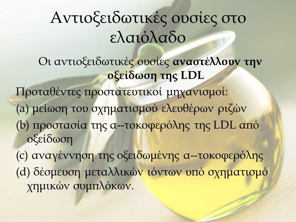 Αντιοξειδωτικές ουσίες στο ελαιόλαδο