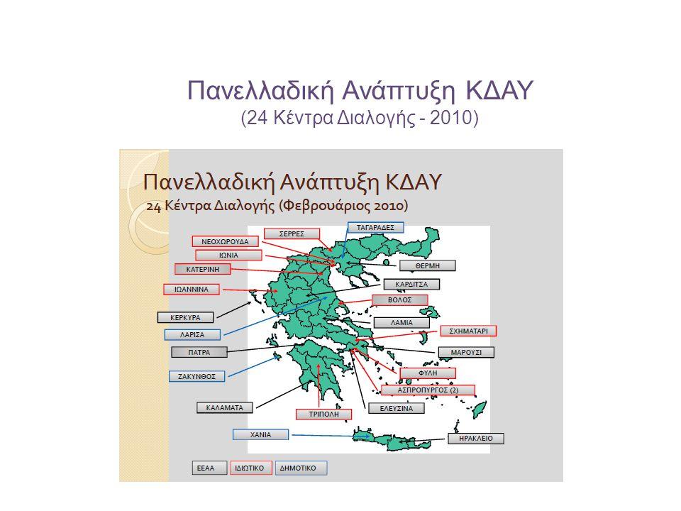 Πανελλαδική Ανάπτυξη ΚΔΑΥ (24 Κέντρα Διαλογής - 2010)