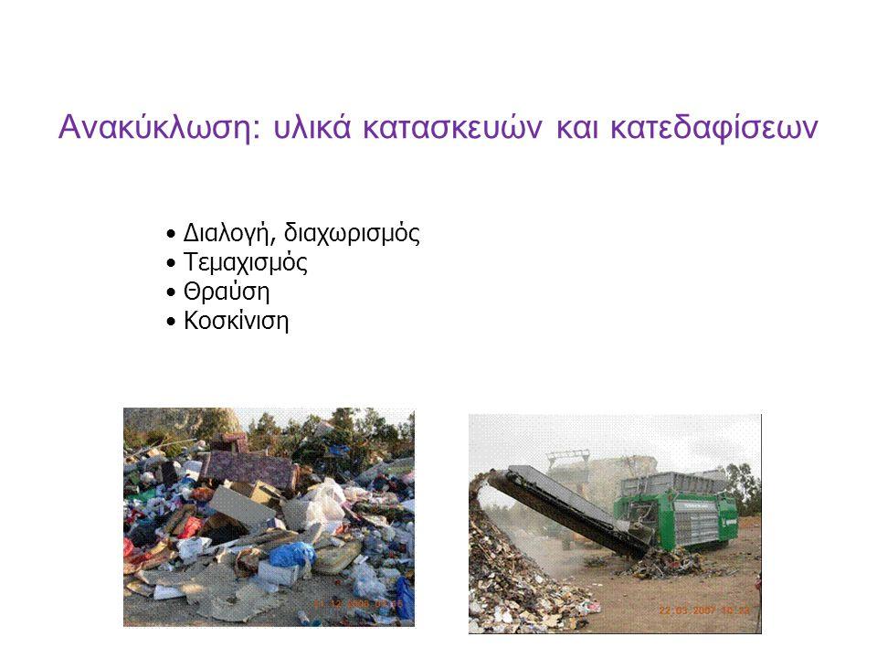 Ανακύκλωση: υλικά κατασκευών και κατεδαφίσεων