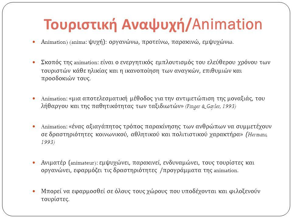 Τουριστική Αναψυχή/Animation