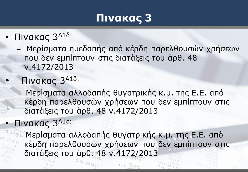 Πινακας 3 Πινακας 3Α1δ: Πινακας 3Α1ε: