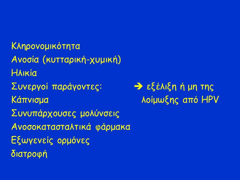 Κληρονομικότητα Ανοσία (κυτταρική-χυμική) Ηλικία. Συνεργοί παράγοντες:  εξέλιξη ή μη της.