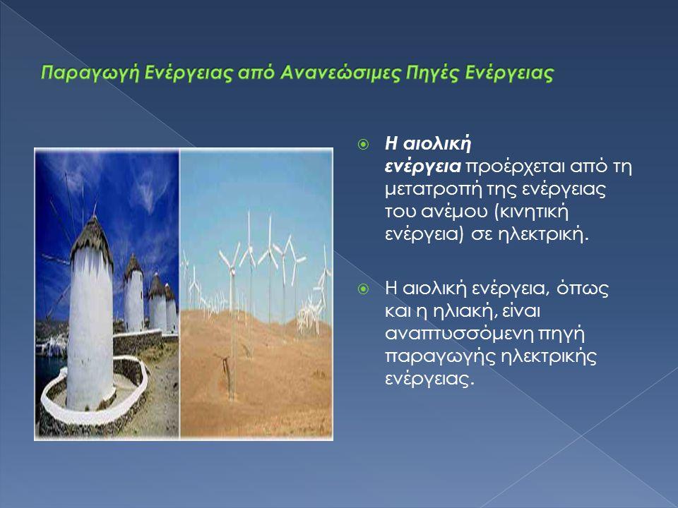Παραγωγή Ενέργειας από Ανανεώσιμες Πηγές Ενέργειας