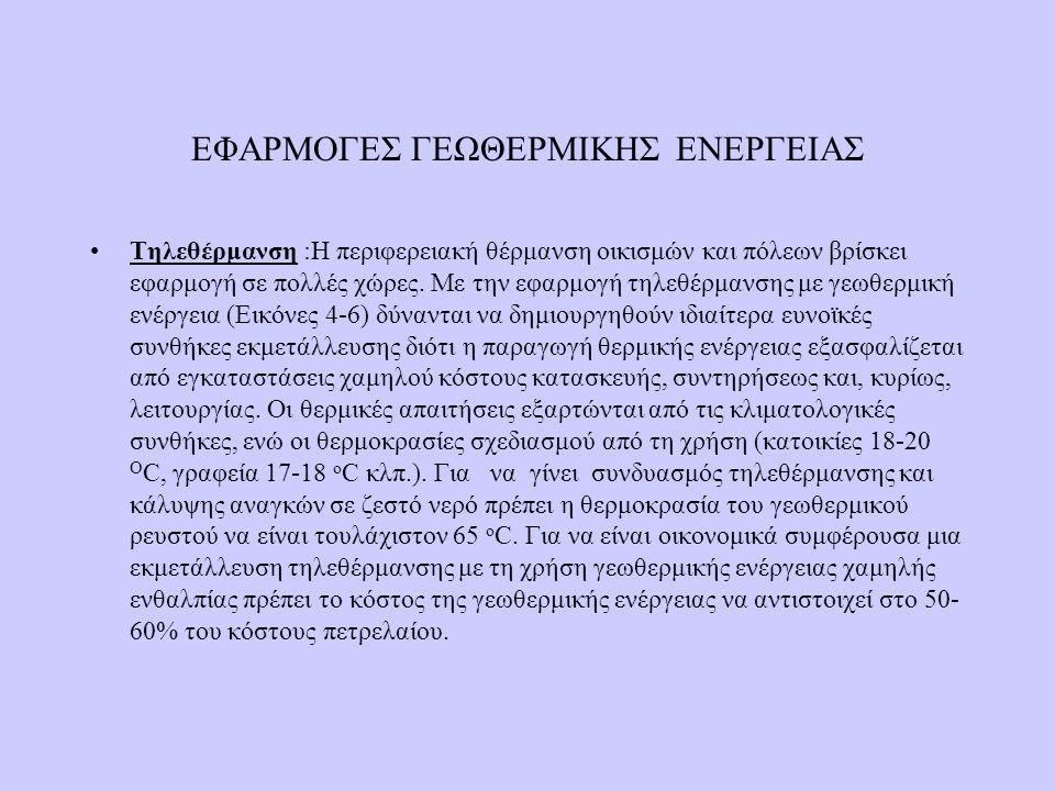 ΕΦΑΡΜΟΓΕΣ ΓΕΩΘΕΡΜΙΚΗΣ ΕΝΕΡΓΕΙΑΣ