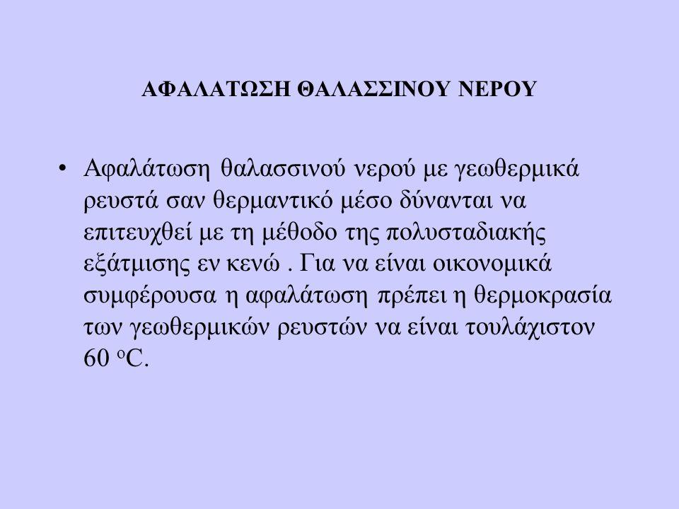 ΑΦΑΛΑΤΩΣΗ ΘΑΛΑΣΣΙΝΟΥ ΝΕΡΟΥ