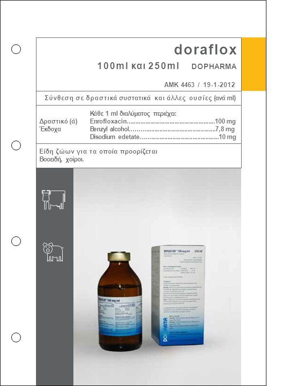 doraflox 100ml και 250ml DOPHARMA ΑΜΚ 4463 / 19-1-2012