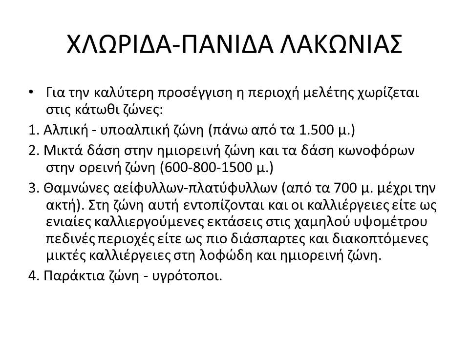 ΧΛΩΡΙΔΑ-ΠΑΝΙΔΑ ΛΑΚΩΝΙΑΣ