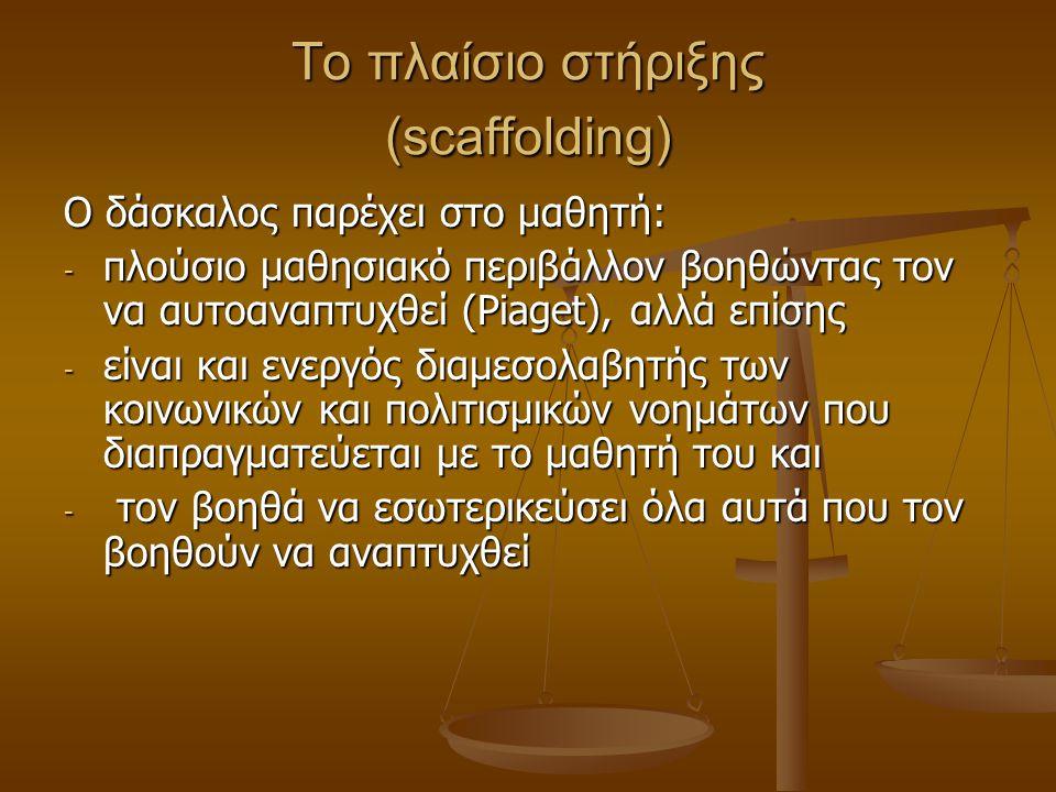 Το πλαίσιο στήριξης (scaffolding)
