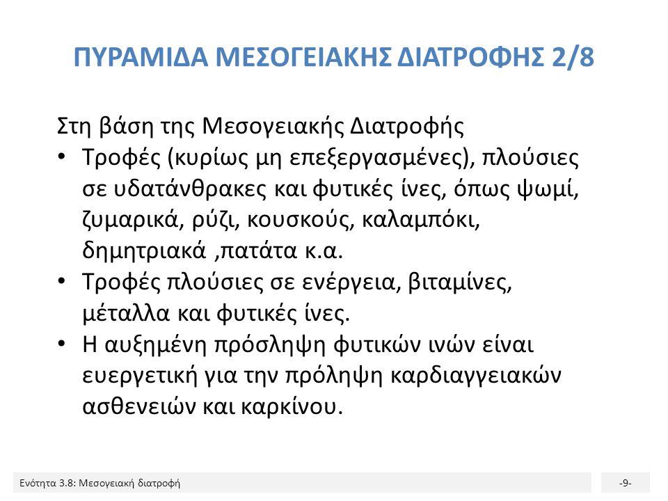 ΠΥΡΑΜΙΔΑ ΜΕΣΟΓΕΙΑΚΗΣ ΔΙΑΤΡΟΦΗΣ 2/8
