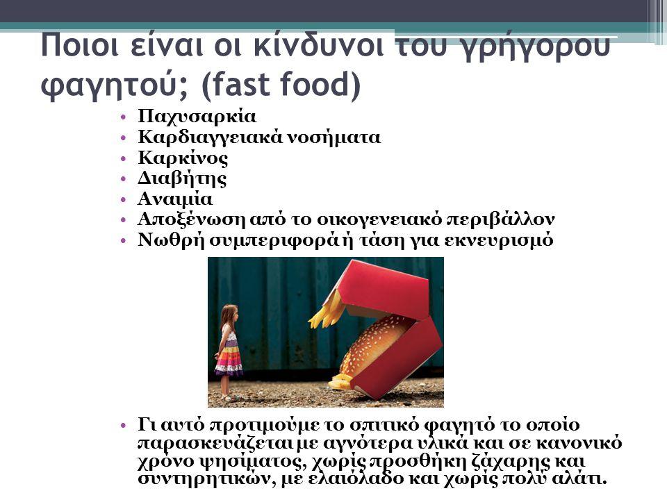 Ποιοι είναι οι κίνδυνοι του γρήγορου φαγητού; (fast food)