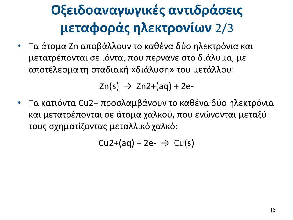 Οξειδοαναγωγικές αντιδράσεις μεταφοράς ηλεκτρονίων 3/3