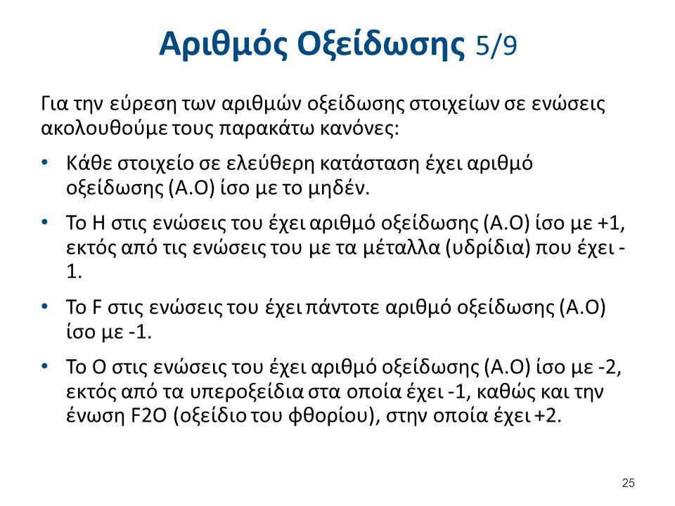 Αριθμός Οξείδωσης 6/9