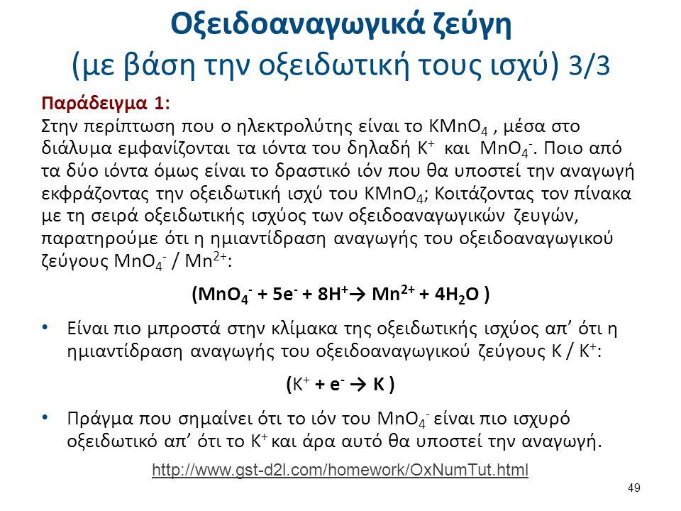 Αντιδράσεις οξειδοαναγωγής 1/7