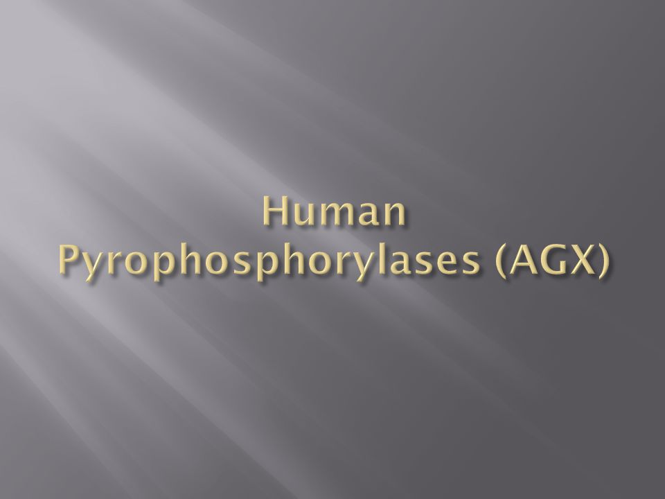 Human Pyrophosphorylases (AGX)