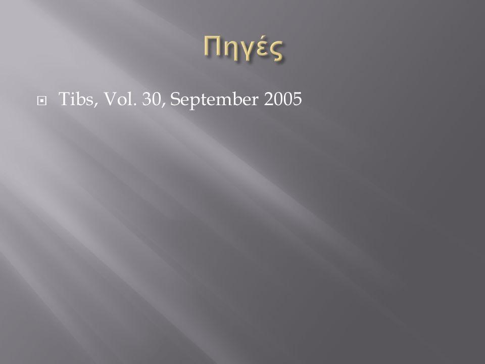 Πηγές Tibs, Vol. 30, September 2005