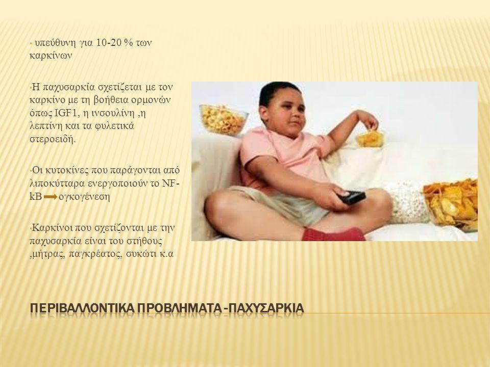 Περιβαλλοντικα προβληματα -παχυσαρκια
