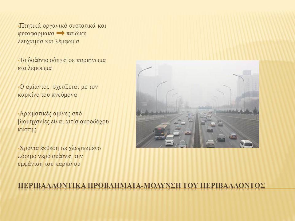 Περιβαλλοντικα προβληματα-μολυνση του περιβαλλοντοσ