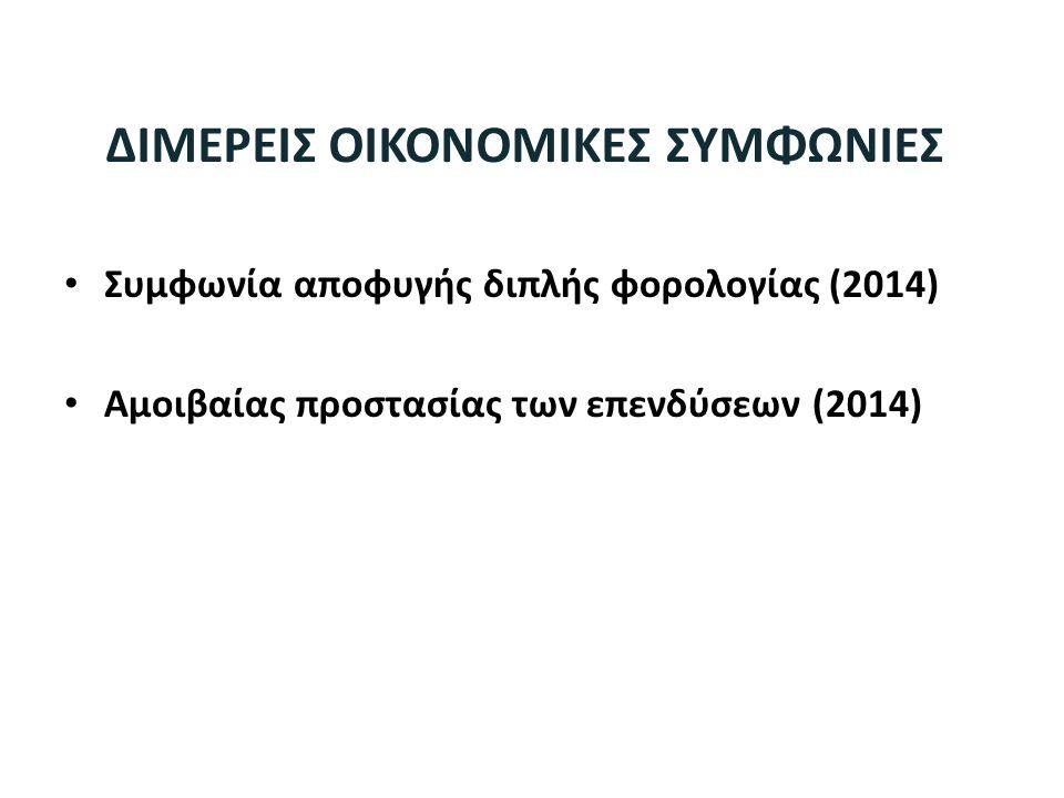 ΔΙΜΕΡΕΙΣ ΟΙΚΟΝΟΜΙΚΕΣ ΣΥΜΦΩΝΙΕΣ