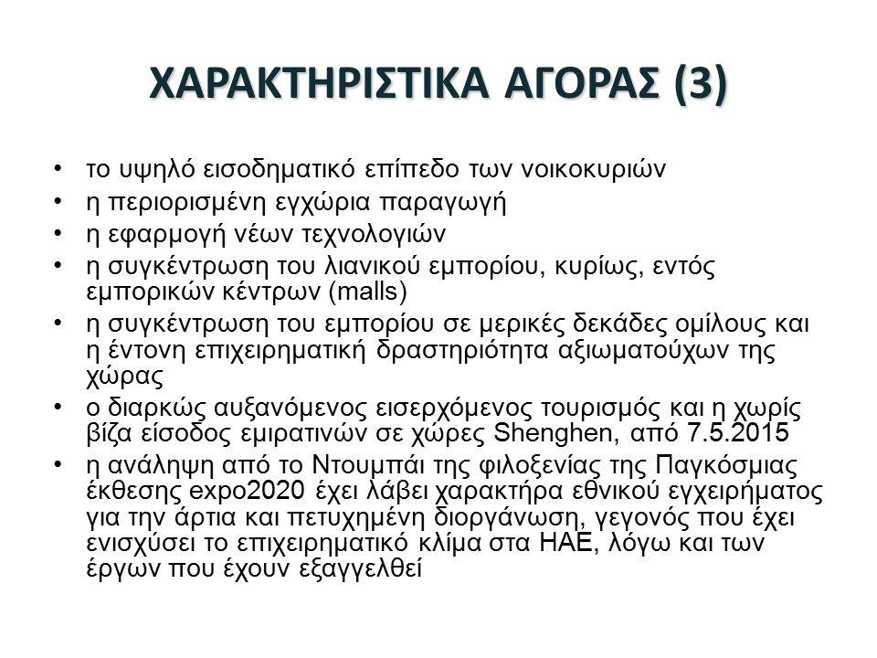 ΧΑΡΑΚΤΗΡΙΣΤΙΚΑ ΑΓΟΡΑΣ (3)