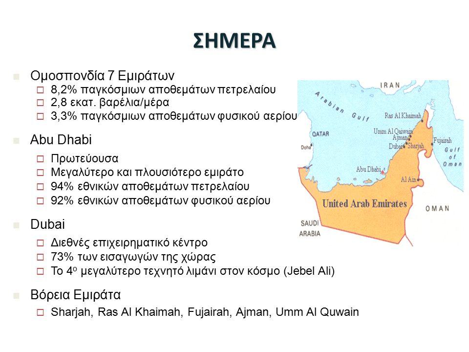 ΣΗΜΕΡΑ Ομοσπονδία 7 Εμιράτων Abu Dhabi Dubai Βόρεια Εμιράτα