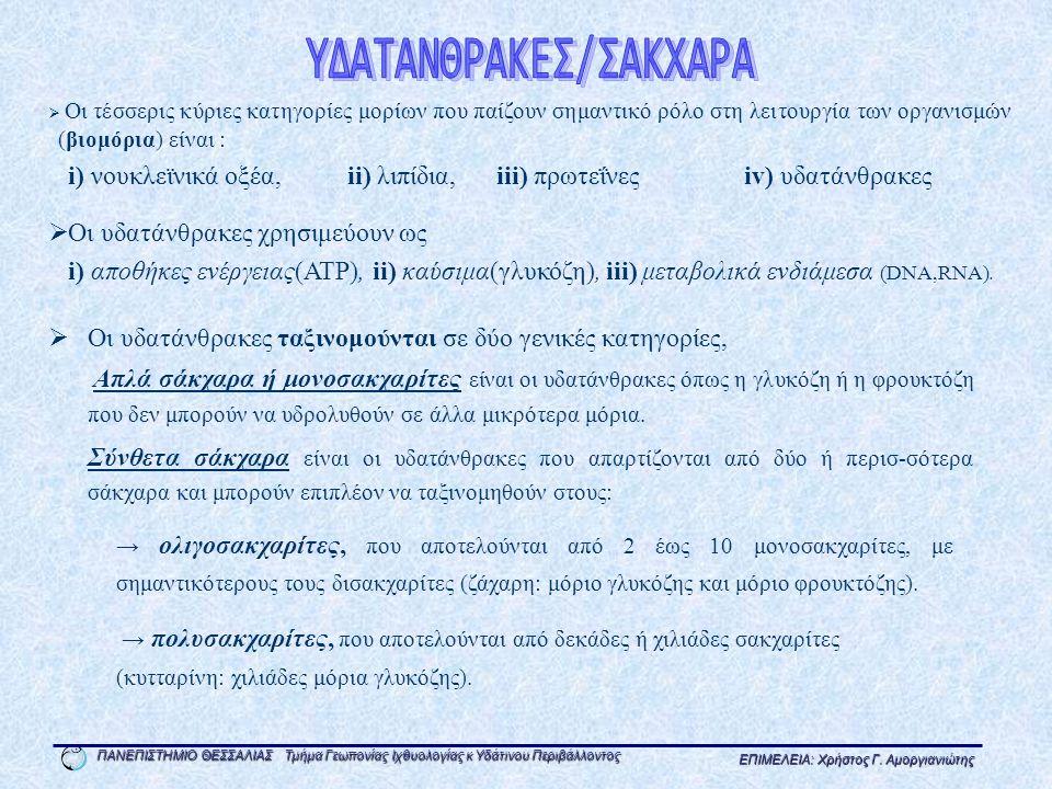 ΥΔΑΤΑΝΘΡΑΚΕΣ/ΣΑΚΧΑΡΑ