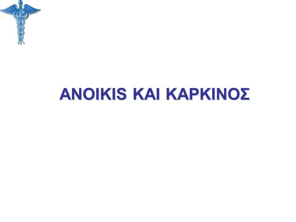 ANOIKIS ΚΑΙ ΚΑΡΚΙΝΟΣ