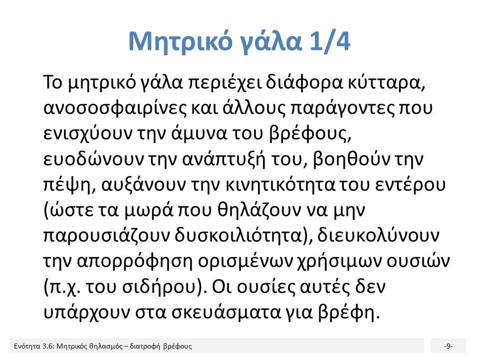 Μητρικό γάλα 1/4