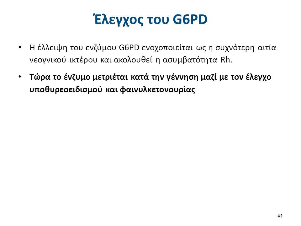 Κλινική εικόνα έλλειψης G6PD