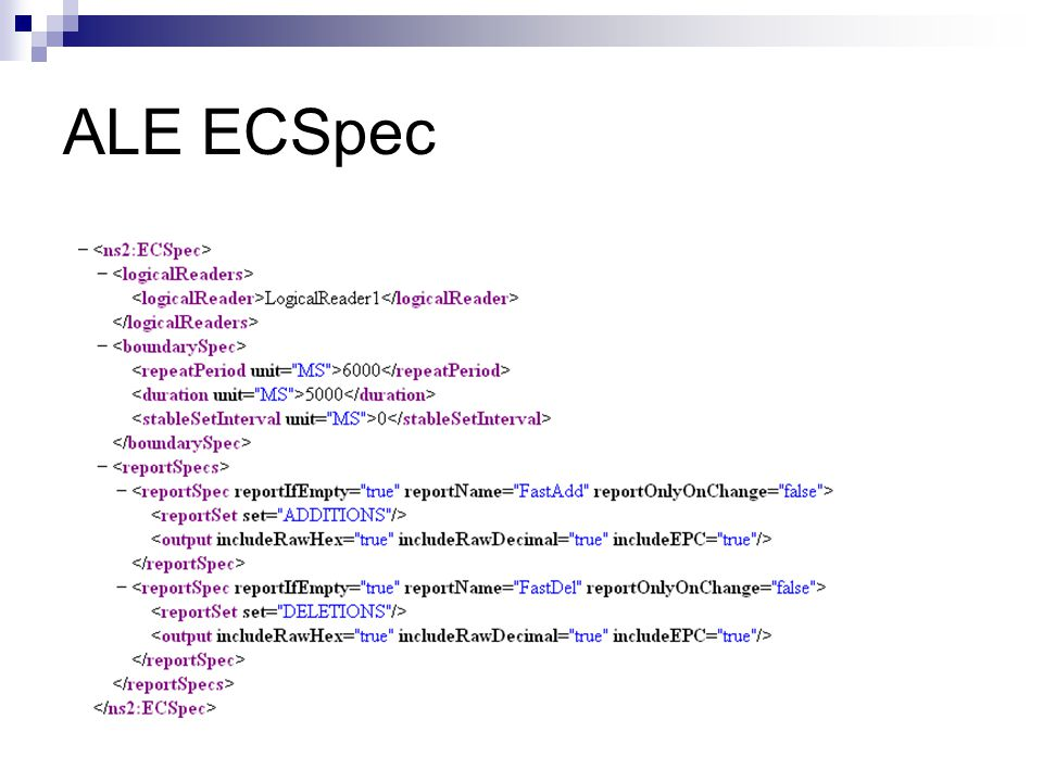 ALE ECSpec