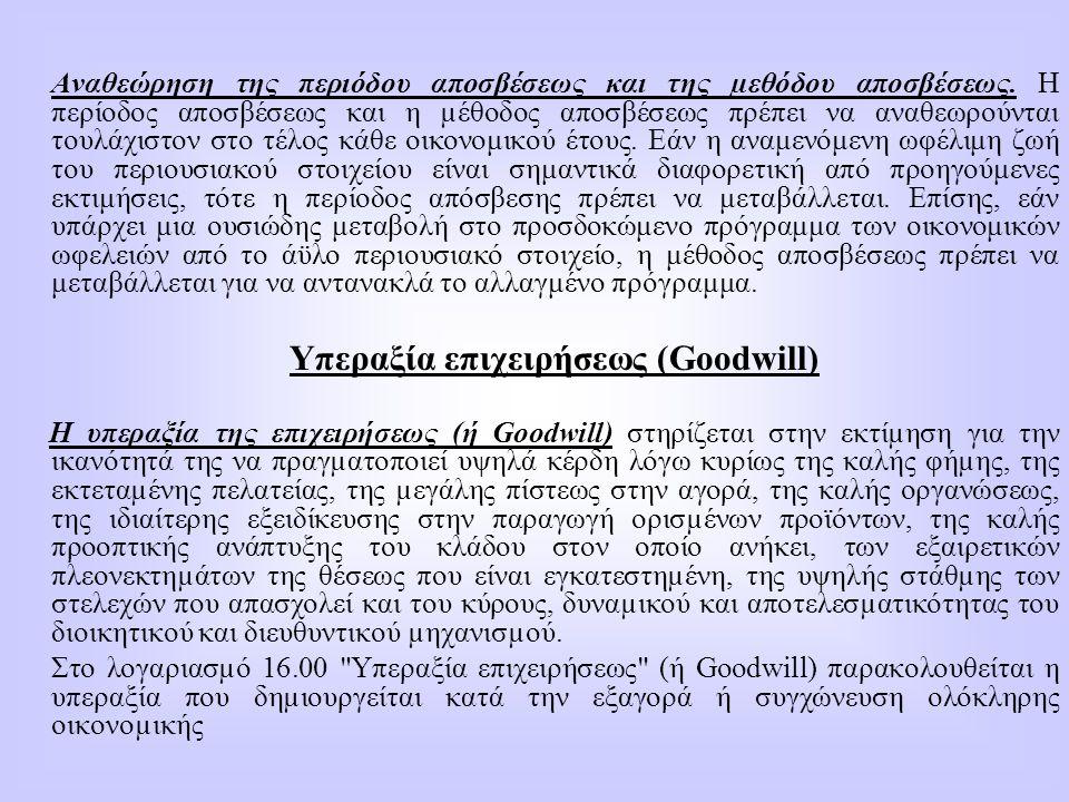 Υπεραξία επιχειρήσεως (Goodwill)
