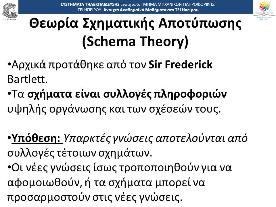 Θεωρία Σχηματικής Αποτύπωσης (Schema Theory)