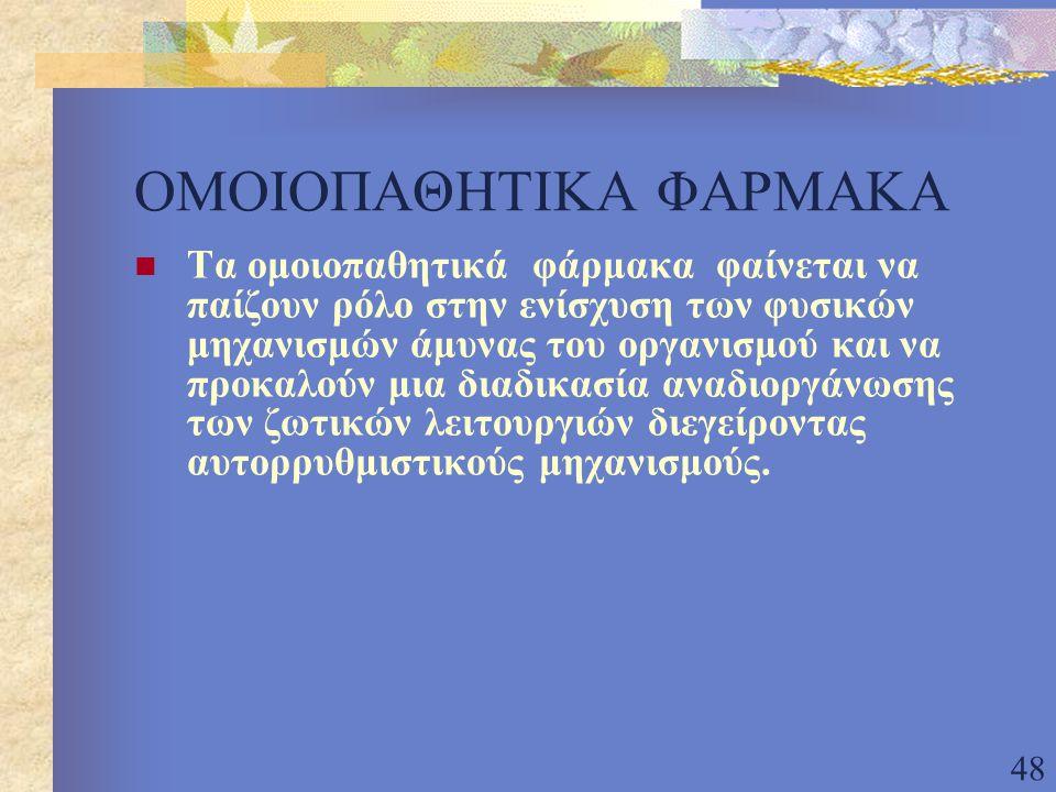 ΟΜΟΙΟΠΑΘΗΤΙΚΑ ΦΑΡΜΑΚΑ