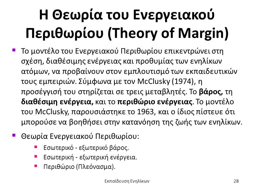 Η Θεωρία του Ενεργειακού Περιθωρίου (Theory of Margin)