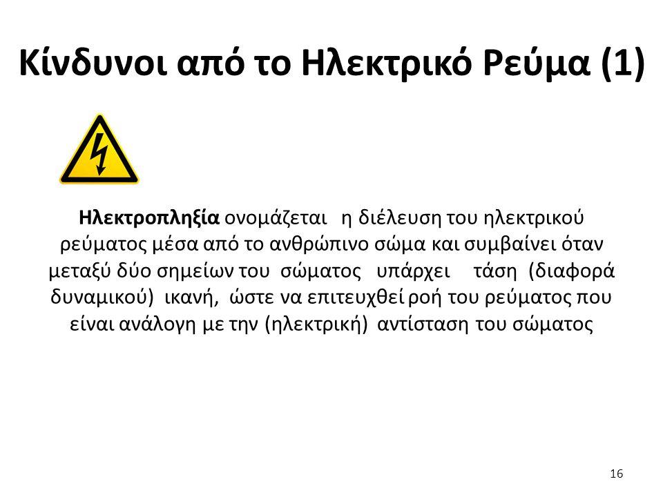 Κίνδυνοι από το Ηλεκτρικό Ρεύμα (1)
