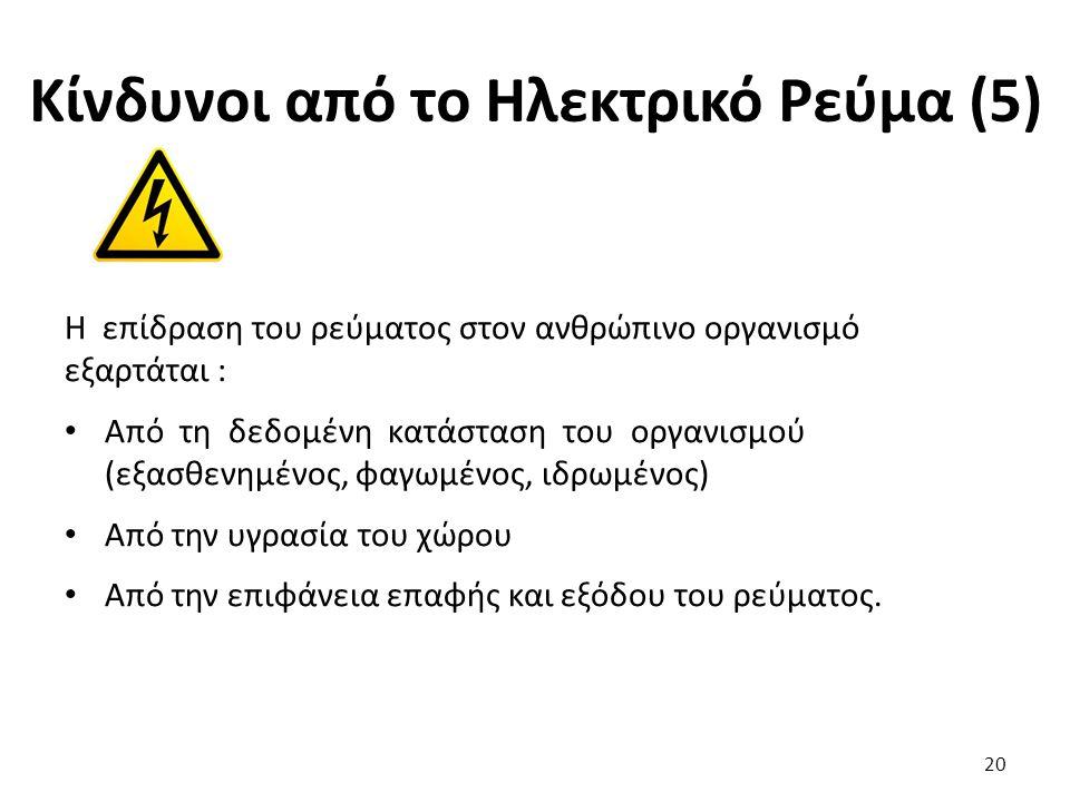 Κίνδυνοι από το Ηλεκτρικό Ρεύμα (5)