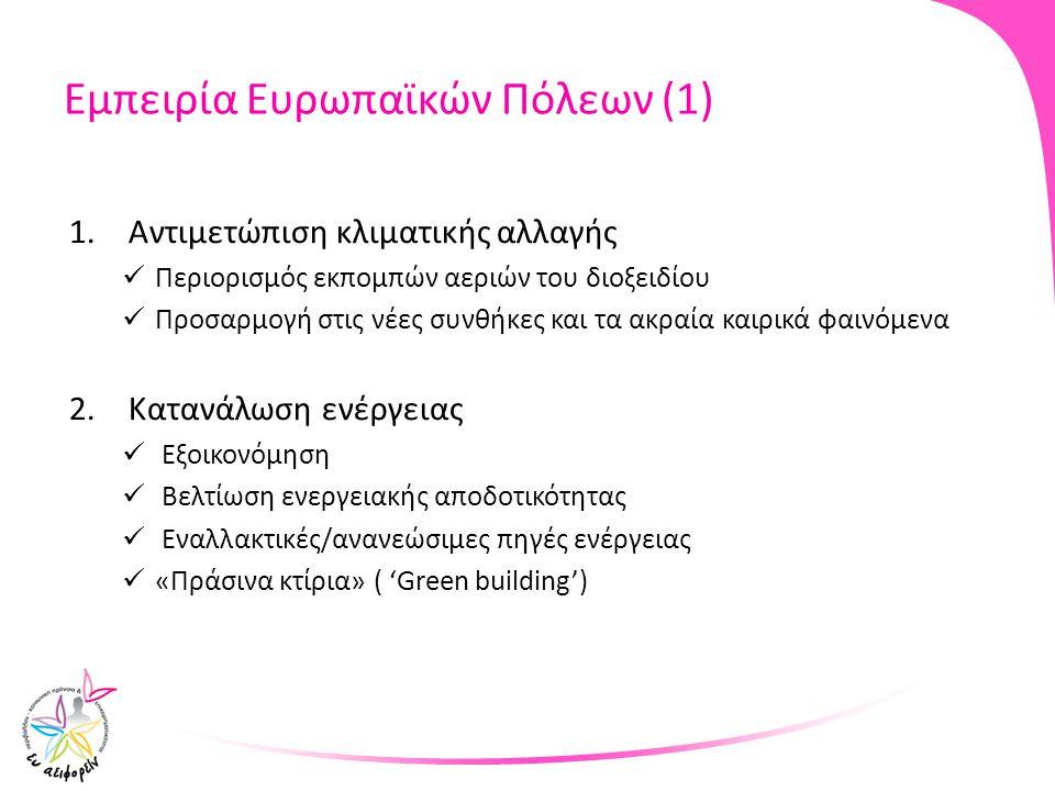 Εμπειρία Ευρωπαϊκών Πόλεων (1)