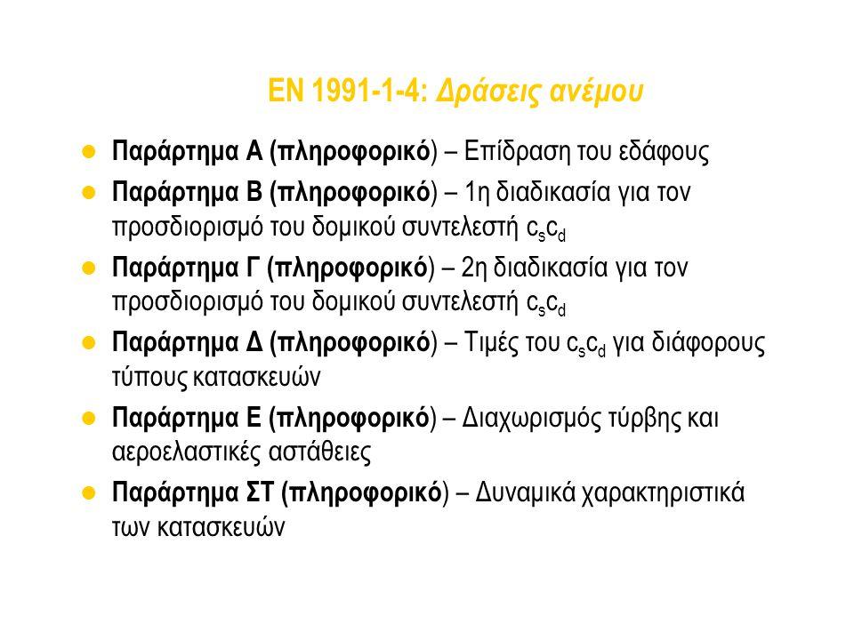 EN 1991-1-4: Δράσεις ανέμου Παράρτημα Α (πληροφορικό) – Επίδραση του εδάφους.