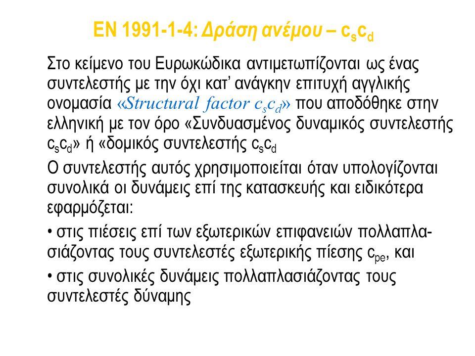 EN 1991-1-4: Δράση ανέμου – cscd