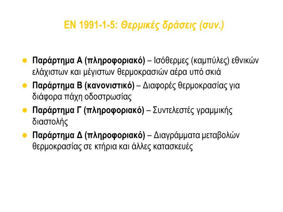 EN 1991-1-5: Θερμικές δράσεις (συν.)