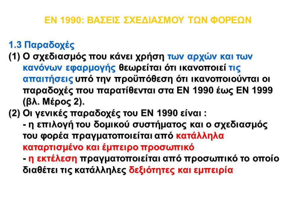 EN 1990: ΒΑΣΕΙΣ ΣΧΕΔΙΑΣΜΟΥ ΤΩΝ ΦΟΡΕΩΝ