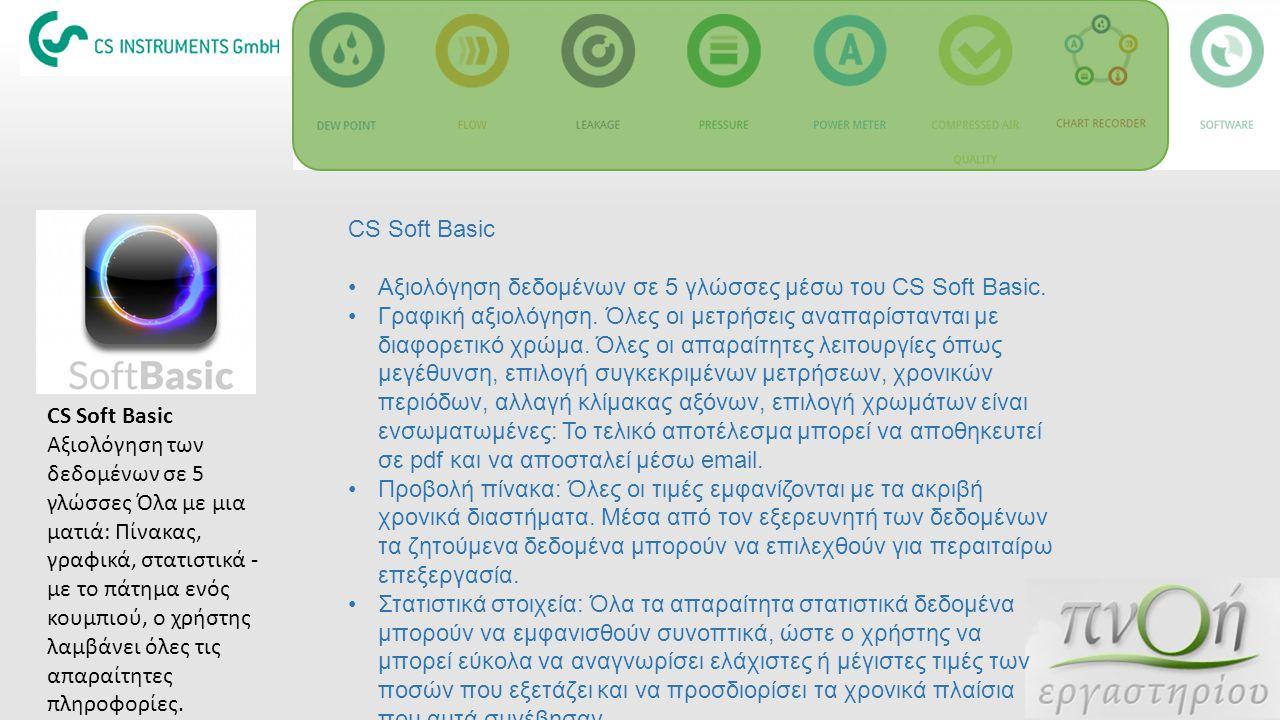 CS Soft Basic Αξιολόγηση δεδομένων σε 5 γλώσσες μέσω του CS Soft Basic.
