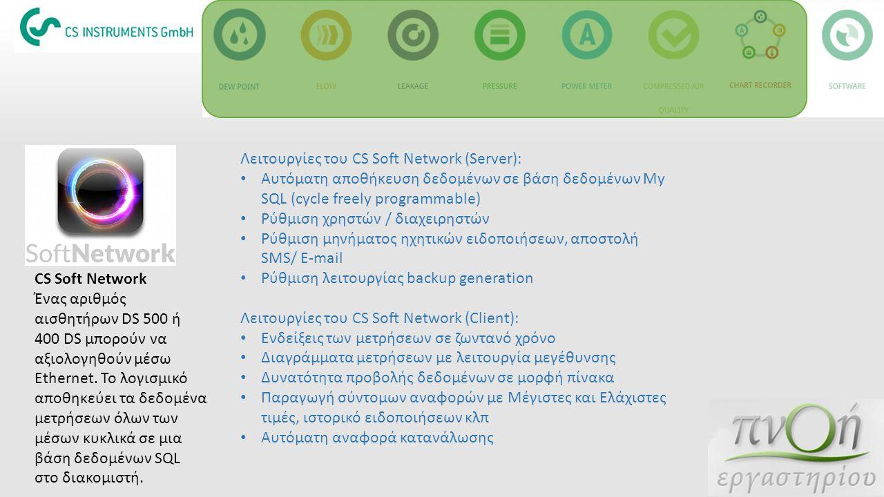 Λειτουργίες του CS Soft Network (Server):
