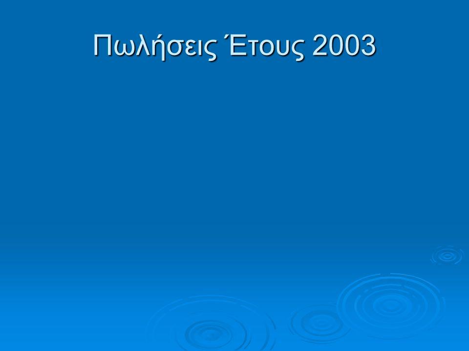 Πωλήσεις Έτους 2003