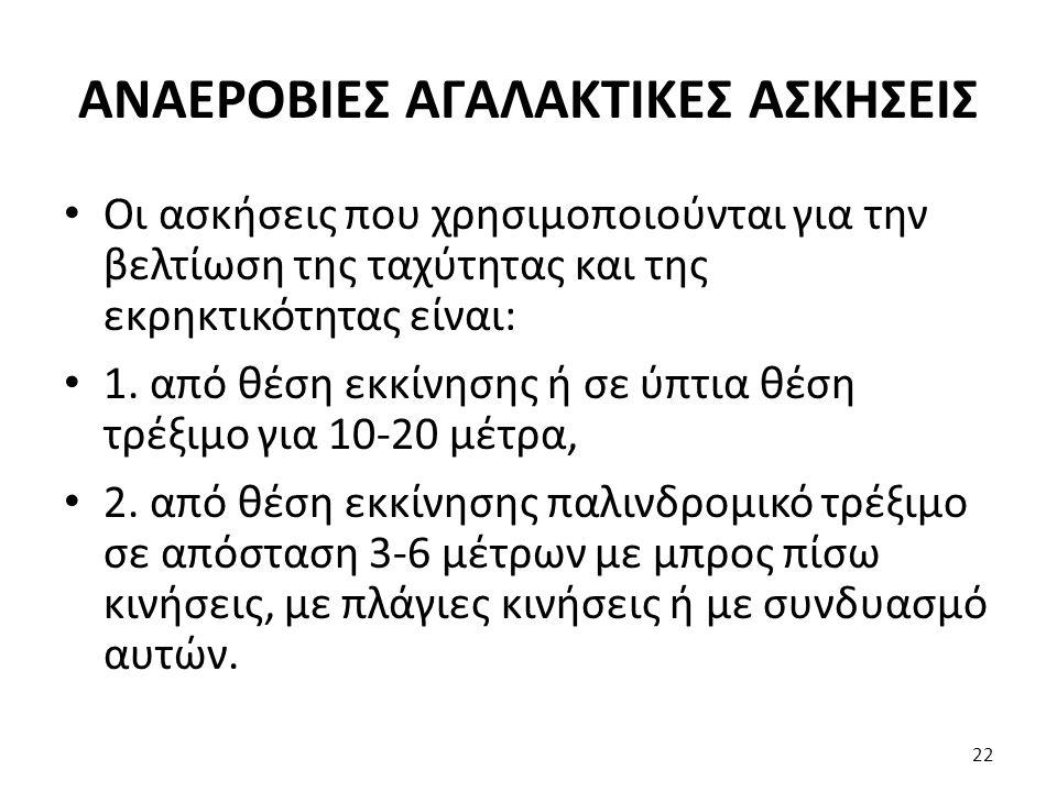 ΑΝΑΕΡΟΒΙΕΣ ΑΓΑΛΑΚΤΙΚΕΣ ΑΣΚΗΣΕΙΣ