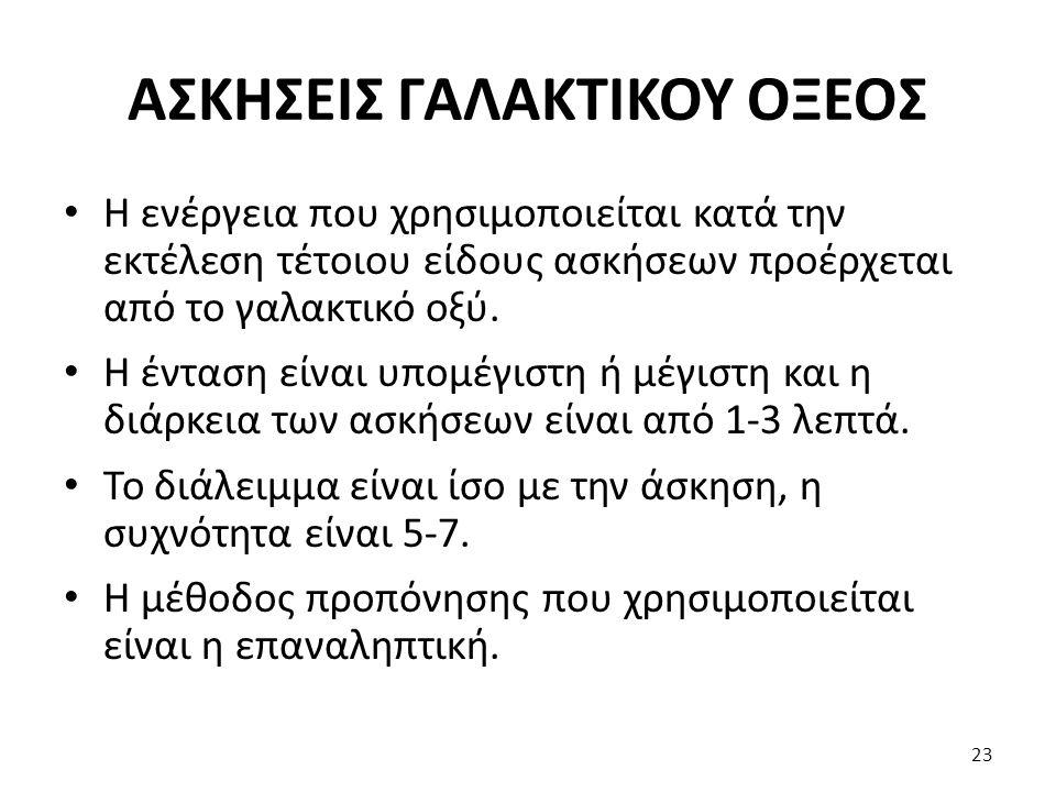 ΑΣΚΗΣΕΙΣ ΓΑΛΑΚΤΙΚΟΥ ΟΞΕΟΣ