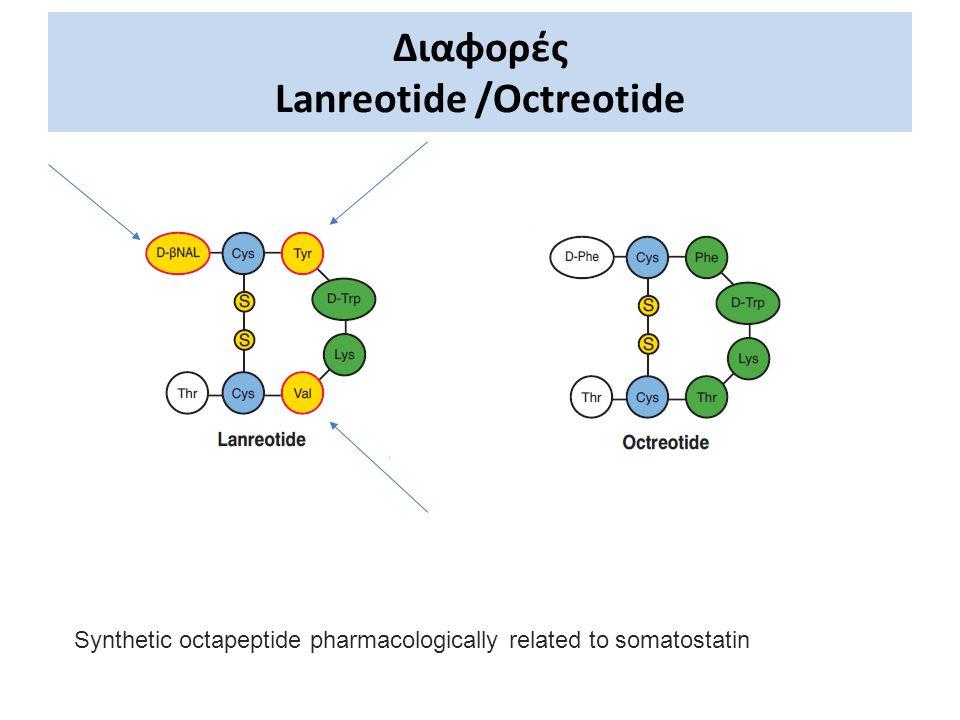 Διαφορές Lanreotide /Octreotide