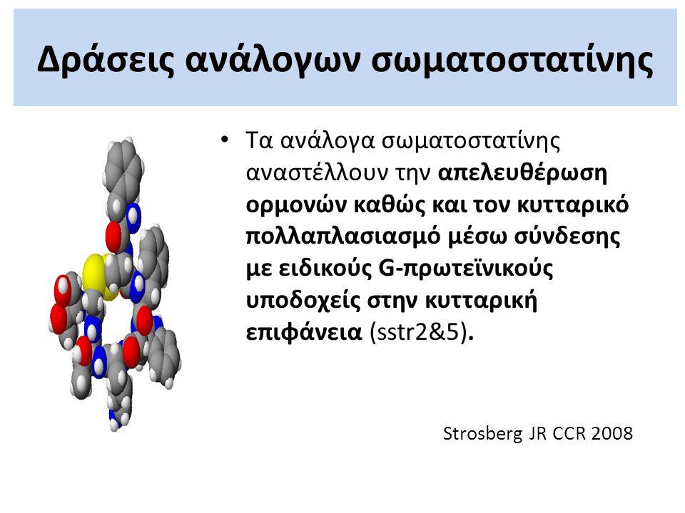 Δράσεις ανάλογων σωματοστατίνης