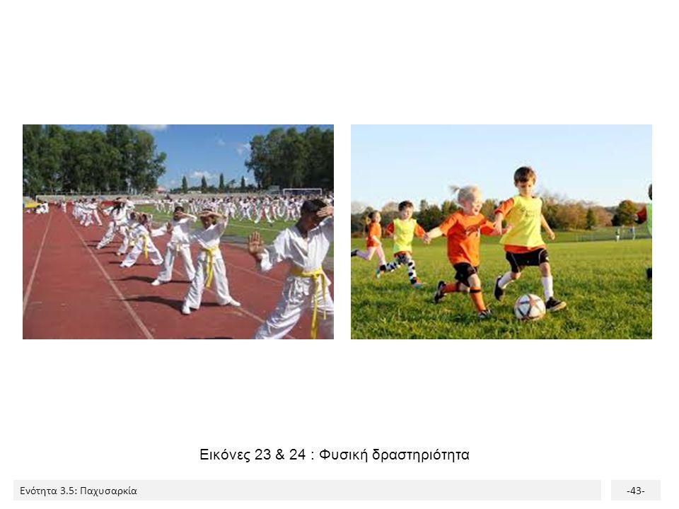 Εικόνες 23 & 24 : Φυσική δραστηριότητα