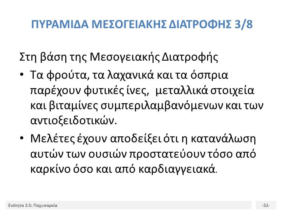 ΠΥΡΑΜΙΔΑ ΜΕΣΟΓΕΙΑΚΗΣ ΔΙΑΤΡΟΦΗΣ 3/8